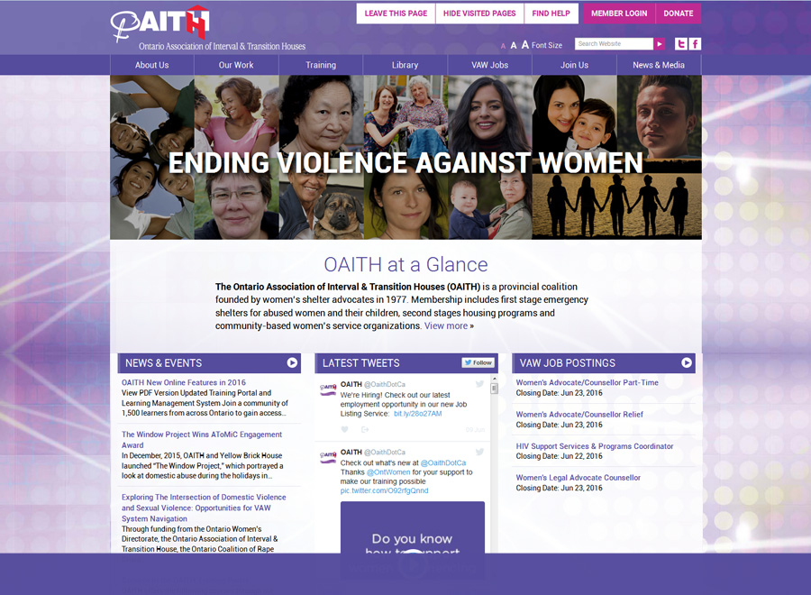 OAITH Home page