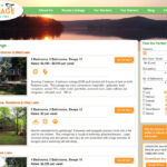 All-Season Cottage Rentals Listings page