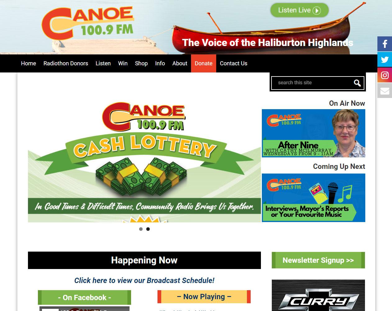 Canoe FM home