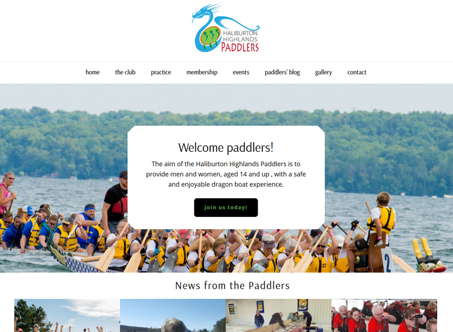 Haliburton Highlands Paddlers website home page
