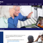 Screen shot of the Haliburton Cares Website
